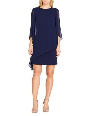 Classic Petal-Sleeve Shift Dress by Tahari Arthur S. Levine