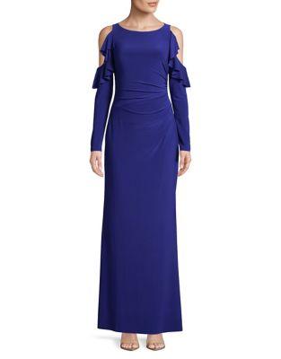Jersey Cold-Shoulder Gown by Lauren Ralph Lauren