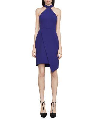 Makenna Asymmetrical Halter Dress by BCBGMAXAZRIA