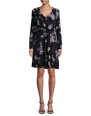 Floral-Print Ruffle Dress by Ivanka Trump