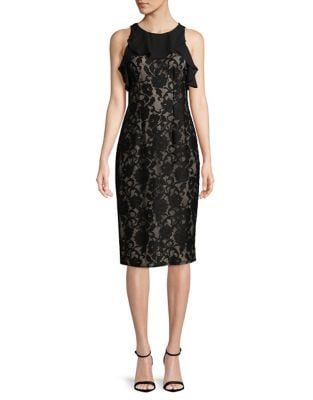 Floral Lace Sleeveless Dress by Ivanka Trump