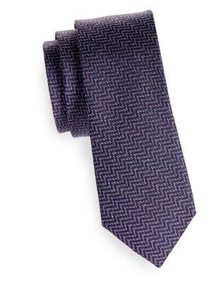 Chevron Silk-Wool Tie...