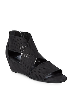 c0016bbd556c Eileen Fisher - Kes Perforated Wedge Leather Sandals - lordandtaylor.com
