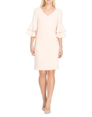 Petite Ruffle Sleeve Sheath Dress by Tahari Arthur S. Levine