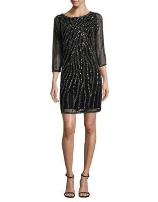 Lace Three-Quarter Sleeve Dress by J Kara