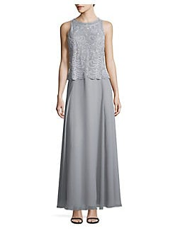 769f90fcd2 QUICK VIEW. J Kara. Lace Sleeveless Long Dress
