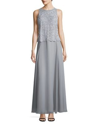 Lace Sleeveless Long Dress by J Kara