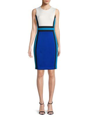 Colorblock Sheath Dress 500087806986