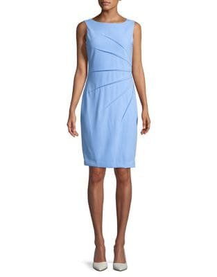 Serene Pleated Sheath Dress by Calvin Klein