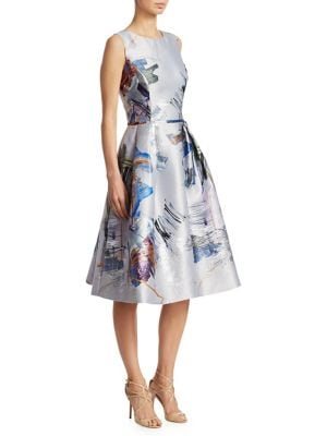 Fit-And-Flare Printed Dress by Teri Jon