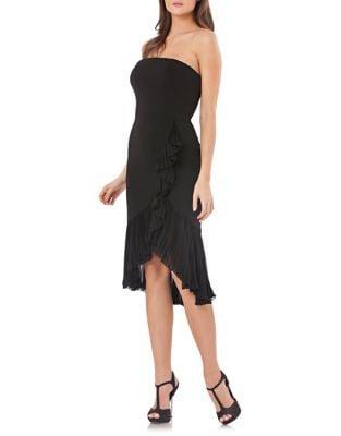 Cascade Ruffle Dress by Carmen Marc Valvo