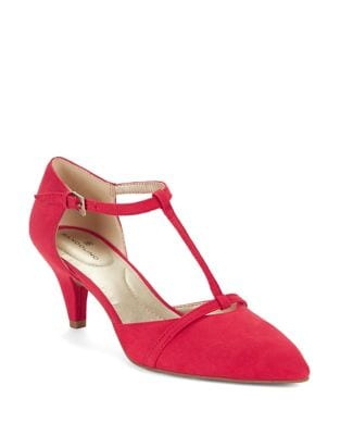 Jamee Nubuck T-Strap Pumps by Bandolino
