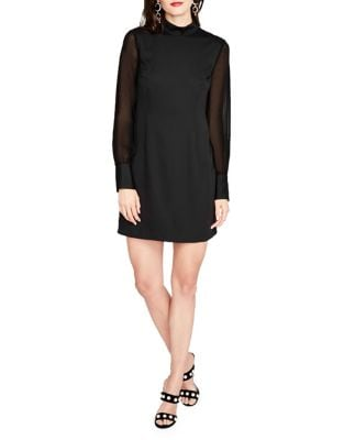 Mockneck Chiffon Sleeve Dress by RACHEL Rachel Roy