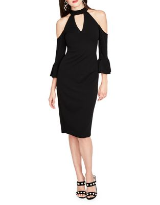Three-Quarter Scuba Crepe Dress by RACHEL Rachel Roy