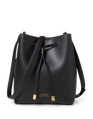Dryden Drawstring Leather Mini Bucket Bag 500087814857