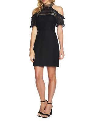 Anne Lace Cold-Shoulder Sheath Dress by Cynthia Steffe
