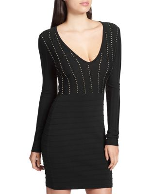 Studded Bodycon Dress by Guess