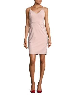 Embroidered Lace Sheath Dress by Guess