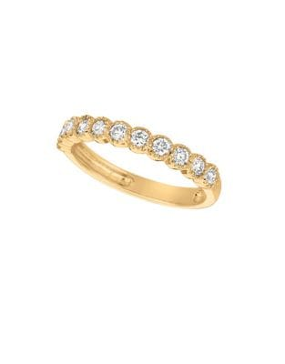 0.5 TCW Diamond and 14K Yellow Gold Band Ring