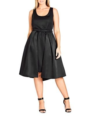 Plus Audrey Sleeveless Dress by City Chic
