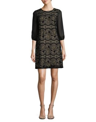 Medallion Shift Dress by Adrianna Papell