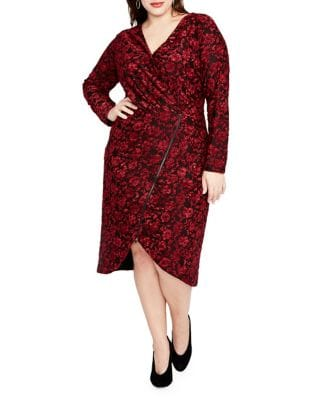 Rachel Rachel Roy Downs PLUS FLORAL-PRINT DRESS