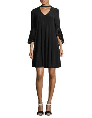Lace Choker Shift Dress by Gabby Skye