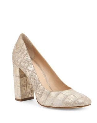 Valentina Embossed Leather Pumps by Botkier New York