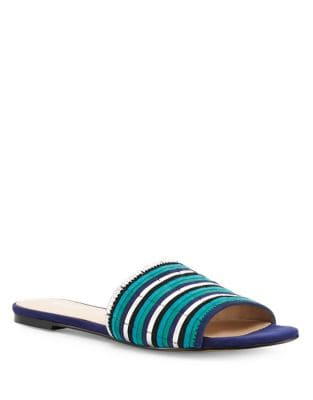 Marley Kid Suede Slides by Botkier New York