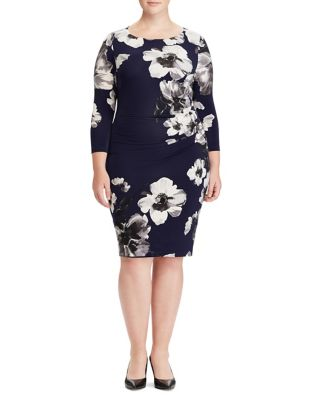 Plus Floral Stretch Jersey Dress by Lauren Ralph Lauren