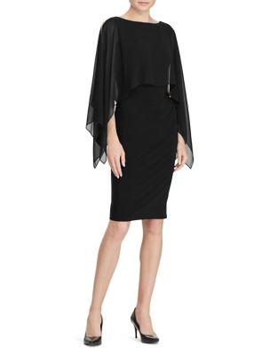 Petite Crepe Overlay Dress by Lauren Ralph Lauren