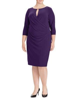 Plus Ruched Jersey Sheath Dress by Lauren Ralph Lauren