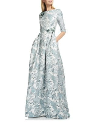 Jacquard Floor-Length Dress by Theia