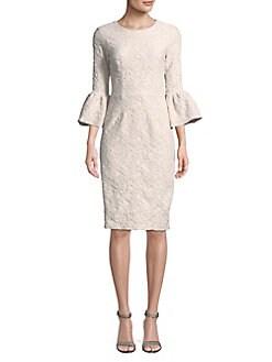 2682f16a91c QUICK VIEW. Betsy   Adam. Jacquard Shift Dress