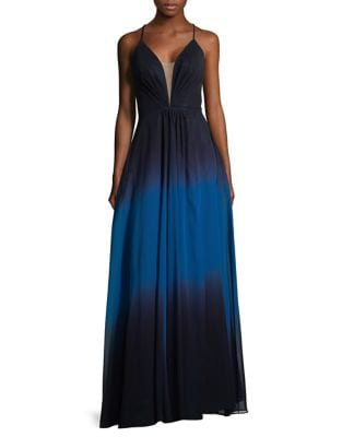 Ombre Floor-Length Gown by Betsy & Adam