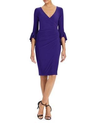 Surplice Jersey Sheath Dress by Lauren Ralph Lauren