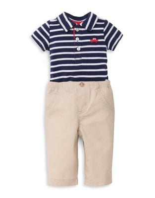 Baby Boy's Two-Piece Cotton Car Polo and Pants Set 500087863101