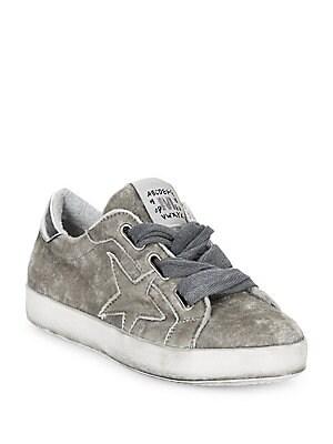 Méliné - Star Velvet Platform Sneakers