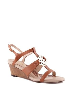 Tommy Bahama IVY SANDS LEATHER WEDGE SANDALS