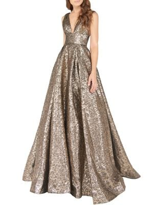 Metallic Ballgown by Mac Duggal