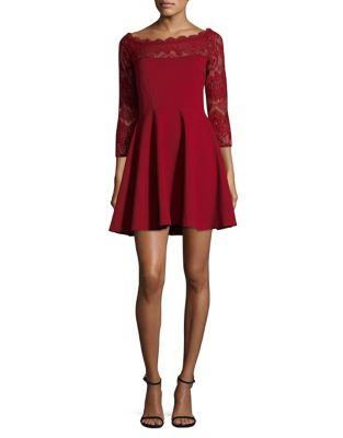 Photo of Three-Quarter Sleeve Fit-&-Flare Dress by BB Dakota - shop BB Dakota dresses sales