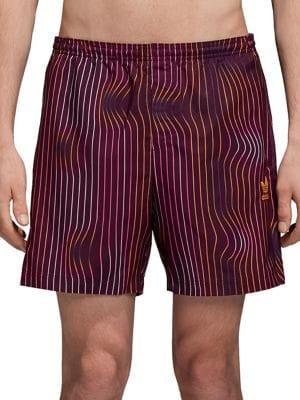 Warped Stripes Swim Shorts...
