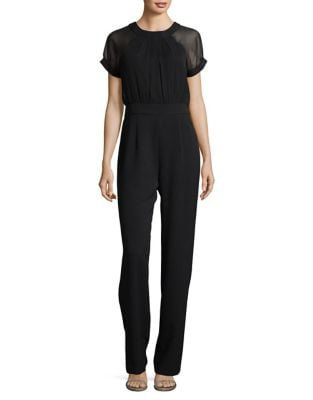 Short-Sleeve Jumpsuit by Vince Camuto