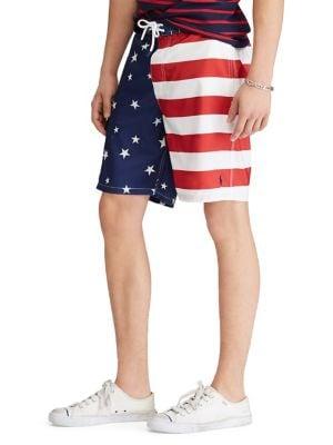Flag Swim Trunks @...