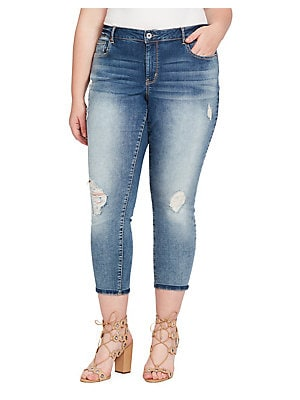 0011ede730029 Jessica Simpson - Plus Forever Rolled-Ankle Jeans