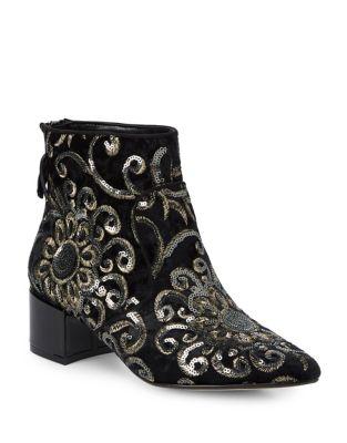 Maude Tassel Sequin Booties by Karl Lagerfeld Paris