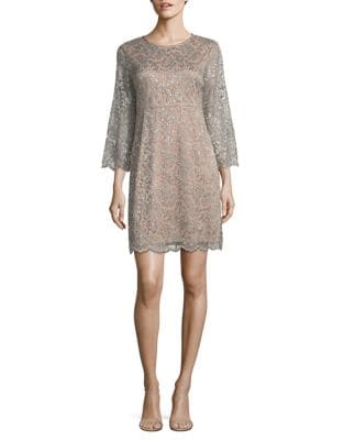 Metallic Lace Dress by Ivanka Trump