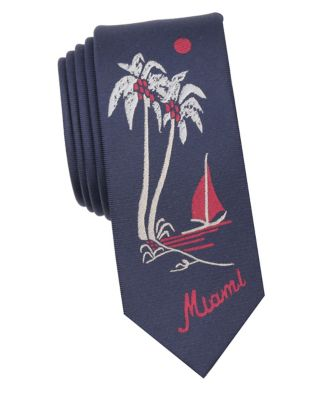 Tree Embroidered Tie...