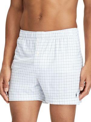 Plaid Jersey Boxer Shorts...