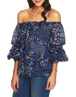 1.state  PRINTED OFF-THE-SHOULDER TOP